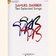 Sheet Music + Playback-CD BARBER, SAMUEL - TEN SELECTED SONGS (HIGH VOICE)