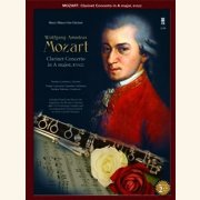 Sheet Music + Download-Playbacks MOZART - CLARINET CONCERTO IN A-MAJOR,  KV622 (CLARINET)