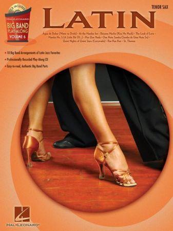Sheet music + Playback-CD BIG BAND PLAY-ALONG VOL  6: LATIN (Tenor  Saxophone)