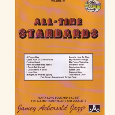 Jamey Aebersold Jazz Play-Along 25 All Time Standards Noten mit 2 CDs
