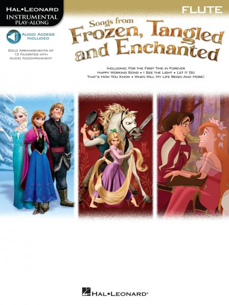 Sheet music + Download-Playbacks Songs from Frozen, Tangled and Enchanted -  Flute
