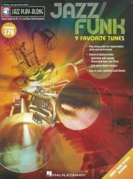 Sheet music + -Download-Playbacks Jazz Play-Along Volume 178: Jazz/Funk - 9  Favorite Tunes