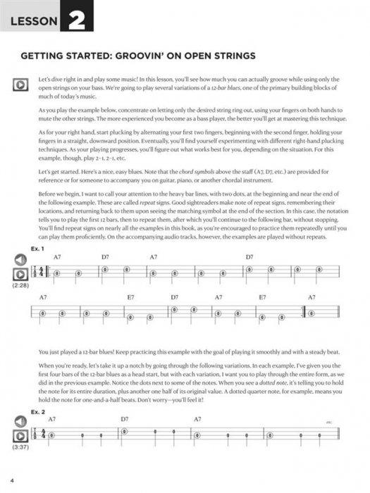 Sheet music + Download-Playbacks FIRST 15 LESSONS - BASS GUITAR (Bass)