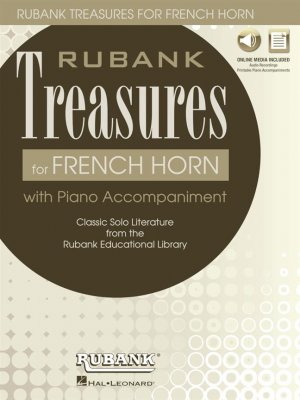 Sheet music + Download-Playbacks RUBANK TREASURES (French Horn)