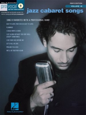 Sheet music + Playback-CD JAZZ CABARET SONGS (Pro Vocal Men's Edition)