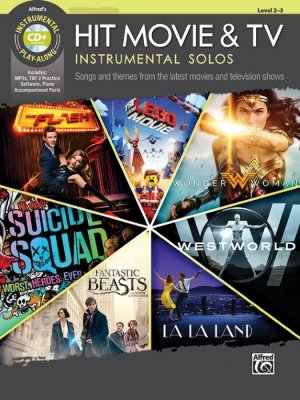 Sheet music + Playback-CD HIT MOVIE AND TV INSTRUMENTAL SOLOS  (Alto-Saxophone)