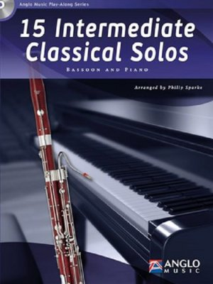 Sheet music + Playback-CD 15 INTERMEDIATE CLASSICAL SOLOS (Bassoon)