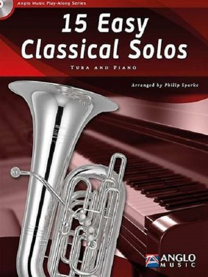 Sheet music + Playback-CD 15 Easy Classical Solos (Tuba)