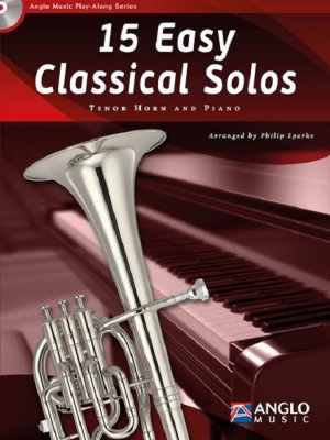 Sheet music + Playback-CD 15 Easy Classical Solos (Tenor Horn