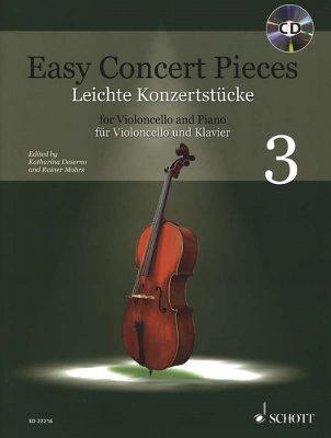 Sheet music + Demo-CD EASY CONCERT PIECES - Vol 3 (Cello)