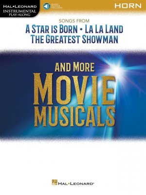 Sheet music + Download-Playbacks SONGS FROM A STAR IS BORN AND MORE MOVIE  MUSICALS (Horn)