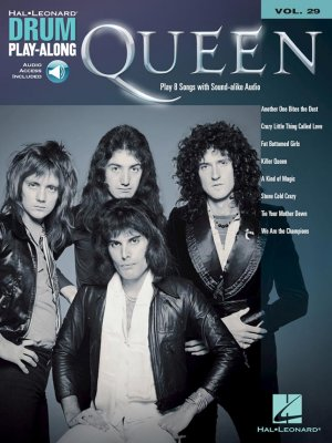 Sheet music + Download-Playbacks QUEEN - Drum Play-Along Volume 29